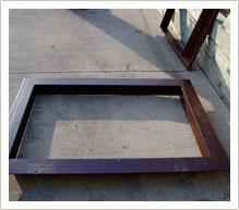 patented egress window frame